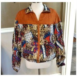 Vintage 80s OLEG CASSINI Team Effort Silk Jacket